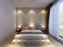 Rendering  bed room Royalty Free Stock Image