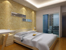 Rendering Bed Room Stock Image