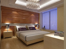 Rendering Bed Room Stock Photography