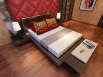Rendering  bed room Stock Images