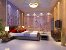 Rendering  bed room Royalty Free Stock Images