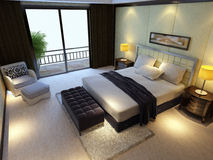 Rendering  bed room Stock Photo