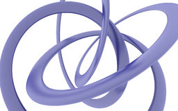 Rendering bent violet helix. On a white background Stock Image