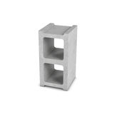Rendering of cinder block isolated on white background. 3d rendering of cinder block isolated on a white background. Building materials. The construction Stock Images