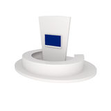 Rendering of Exhibition Stand isolated on white. 3d illustration Royalty Free Stock Image