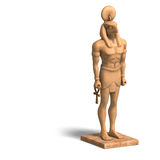 Rendering of eygpt god statue with Clipping Path Royalty Free Stock Photo