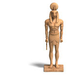 Rendering of eygpt god statue with Clipping Path Stock Image