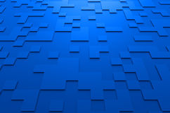 Rendering of Futuristic Surface with Squares Stock Image