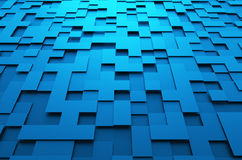 Rendering of Futuristic Surface with Squares Stock Photography
