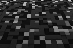 Rendering of Futuristic Surface with Squares Royalty Free Stock Photo