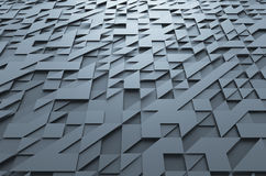Rendering of Futuristic Surface with Triangles Stock Photography