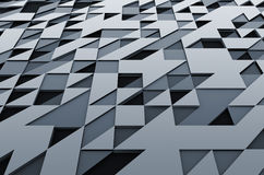 Rendering of Futuristic Surface with Triangles Stock Images