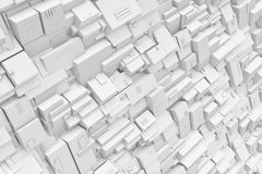 Rendering gray background made of various lines and figures. 3d rendering of gray background made of various lines and figures. 3d modelling. Computer graphics Stock Photo