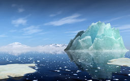 Rendering of an iceberg Royalty Free Stock Images