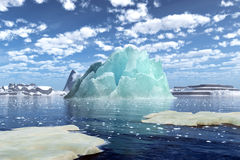 Rendering of an iceberg Stock Photography