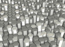 Rendering image looks like Crystals of hexagonal c Stock Images