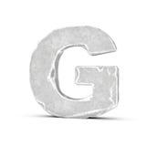 Rendering kamienia list G odizolowywający na białym tle ilustracji