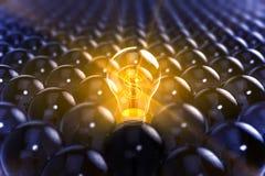 Rendering lightbulb z usa waluty symbolem Fotografia Stock