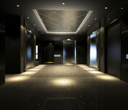 Rendering modern corridor royalty free illustration