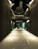 Rendering modern corridor Stock Images