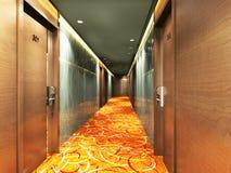 Rendering modern corridor Royalty Free Stock Images