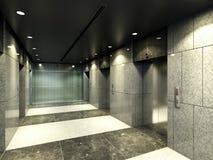Rendering modern corridor Stock Image
