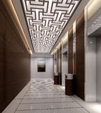 Rendering modern corridor Stock Photography