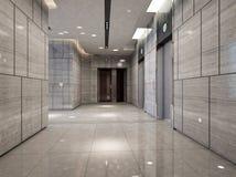 Rendering modern corridor Royalty Free Stock Photography