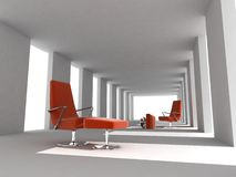 Rendering modern empty room interior Royalty Free Stock Images