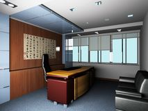 Rendering Modern office Stock Image