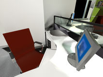 Rendering modern office interior Royalty Free Stock Image