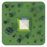 rendering Namiot w lesie Obraz Stock