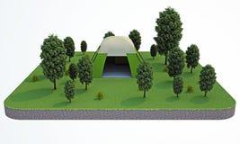rendering Namiot w lesie Obrazy Stock
