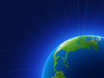 Rendering of the planet earth. Background Royalty Free Stock Images