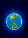 Rendering of the planet earth. Bacground Stock Photography