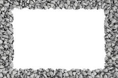 Rendering rectangle frame of stones on white background. Royalty Free Stock Photos