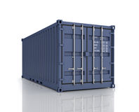 Rendering of a shipping container. Stock Images
