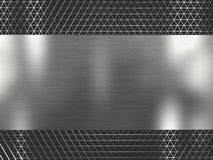 Rendering silver metallic grid background. 3d illustration silver metallic texture grid background royalty free stock photo