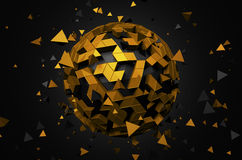 Rendering of Sphere With Chaotic Particles Stock Photography