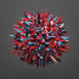 Rendering of Sphere with Chaotic Structure Royalty Free Stock Photos