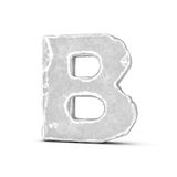 Rendering of stone letter B isolated on white background. Royalty Free Stock Image