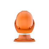 Rendering of striped traffic cone and helmet on it Stock Photography