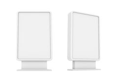 Rendering of two white empty street billboards. 3d rendering of two white empty street billboards isolated on white background. Street advertizing. Billboards Royalty Free Stock Photo