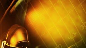 Rendering video in HD of an american football helmet stock video footage