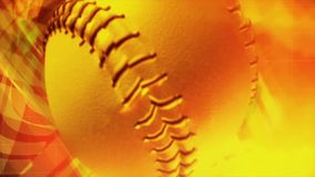 Rendering video in HD of a baseball ball stock footage