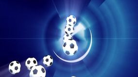 Rendering video in HD of a soccer ball stock video footage