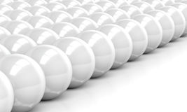 rendering of white balls Stock Image