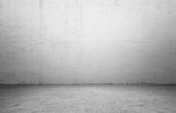Rendering wnętrze z betonową ścianą i podłoga Obrazy Royalty Free
