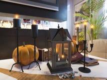 Rendez d'une conception intérieure de maison urbaine Image stock