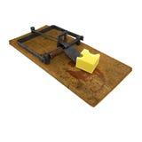 Rendez d'une trappe de souris avec du fromage Photos libres de droits